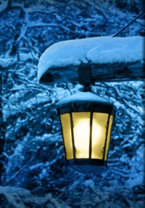 Shovelry Is Not Dead - outside lamp at night