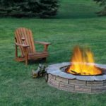 Backyard Fire Pits - on the lawn