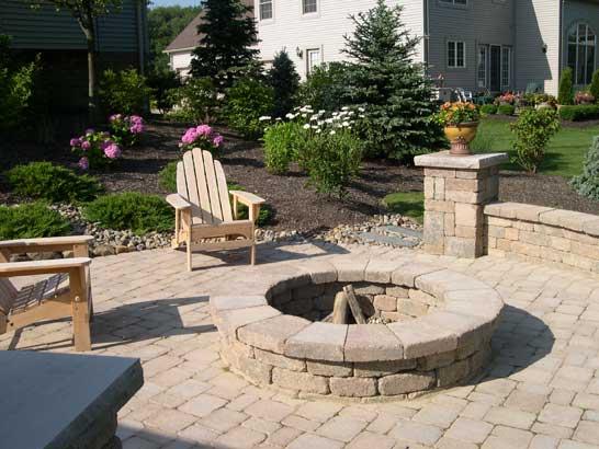 Backyard Fire Pits - on the patio
