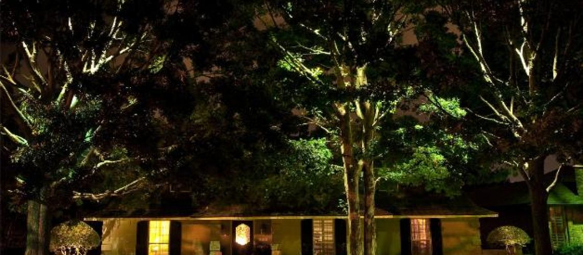 Learn about Outside Lighting - house at night