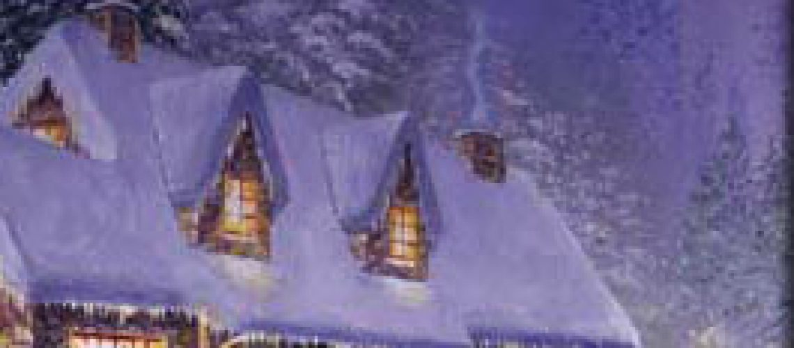 Plan Ahead for Winter and the Holidays - holiday home at night with snow